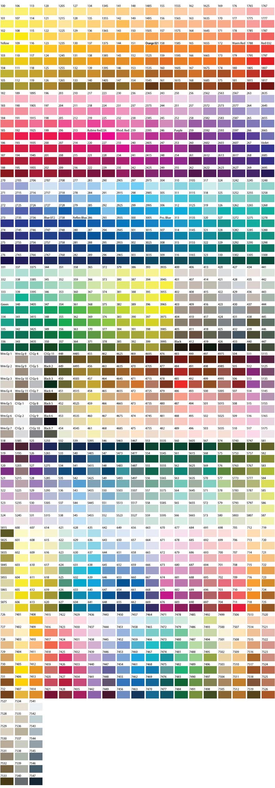 Colores para fabricar llaveros personalizados con logo.