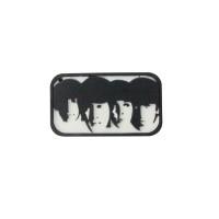 Llavero de goma o silicona de los Beatles.