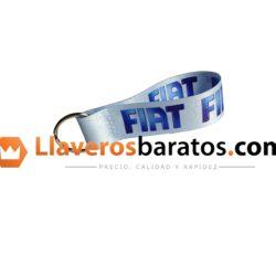 Llavero jacquard personalizado con el nombre de empresa Fiat.