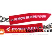 Llavero jacquard remove before flight.