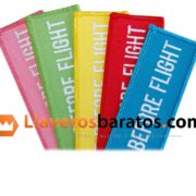 Llavero de tela en muchos colores. Remove before flight.