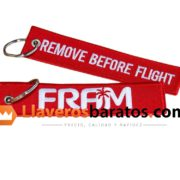 Llavero Remove Before Flight de tela.