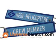 Llaveros de tela para cabina de helicóptero.