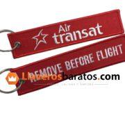 Llaveros de tela compañia de avión.