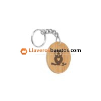 Llaveros de madera con logo de empresa